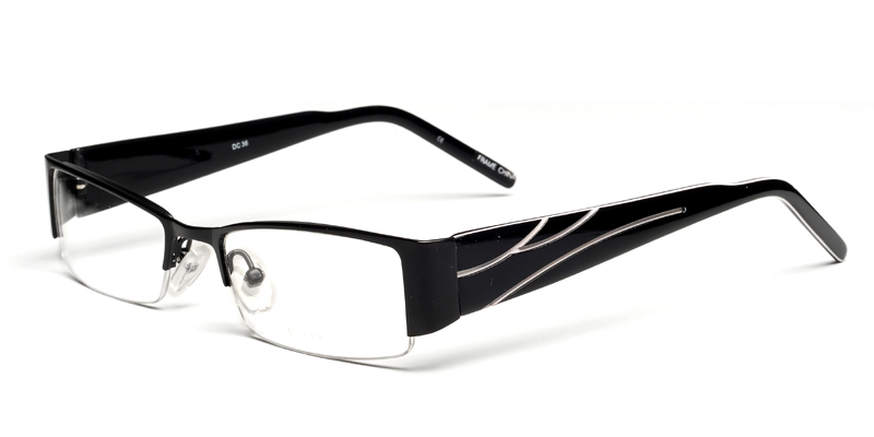 Freedom Black Semi-Rimless Eyeglasses Online From $59.95
