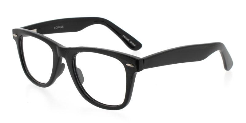 College Black Full Frames Eyeglasses From $78