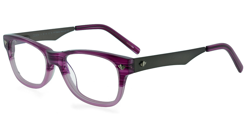 One EG35 Clear Purple Purple/Eggplant Discount Eyeglass Frames