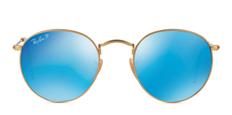 7978bce9a Ray-Ban 3447 Round Metal Prescription Sunglasses