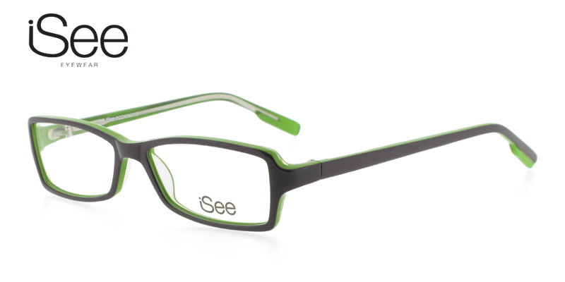 iSee 736 Dark Purple w/Green Purple/Eggplant Cheap Eyeglasses