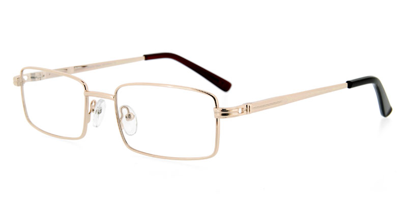 6f829674ad Reece Jakob 2043 Gold Rx Eyeglasses Buy Now - Found Eyeglasses