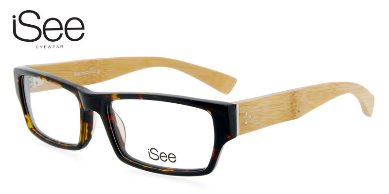61350536d443 Buy iSee 023 Tortoise Shell w Wood Prescription Glasses - Save on ...