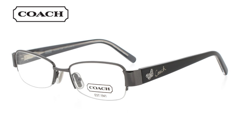 Coach Cheyenne 1028 Gunmetal Prescription Glasses by GlassesUSA    Coach Prescription Glasses