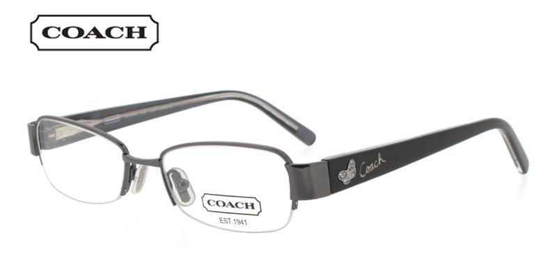 Coach Cheyenne 1028 Gunmetal Prescription Glasses by GlassesUSA    Coach Prescription Glasses