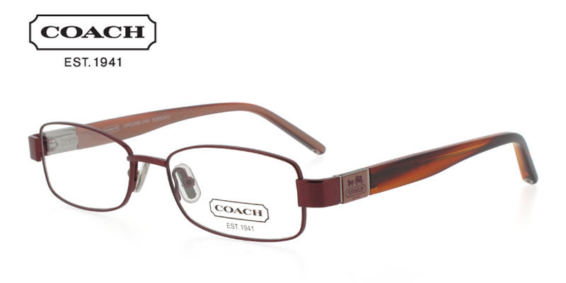 Coach Carolann 244 Red Designer Prescription Glasses by GlassesUSA    Coach Prescription Glasses