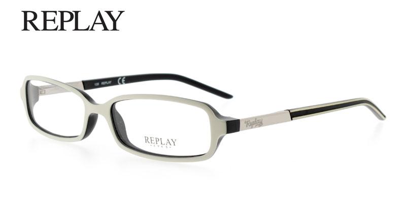 White Designer Eyeglass Frames : USD* Replay RE617 White Designer Prescription Glasses Save ...