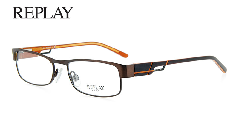 670be99863 1  Replay RE372 Brown Designer Prescription Glasses Cheap Today ...