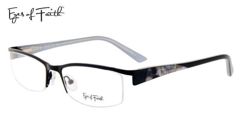 3e768aa56ea 1  Eyes Of Faith 1014 Black Gunmetal Designer Prescription Glasses ...