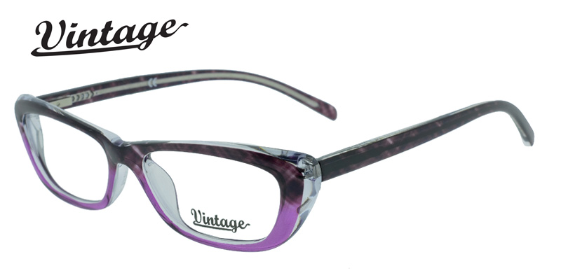 Vintage VN104 Purple/Brown Purple/Eggplant Designer Eyeglass Frames