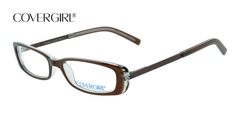 dc5e584eec Covergirl CG0325 Brown w Clear Designer Glasses Low Priced - Found ...