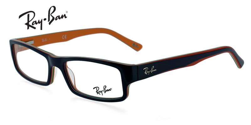 5ddda7af078 Ray-Ban 5246 Black w Orange Prescription Eyeglasses