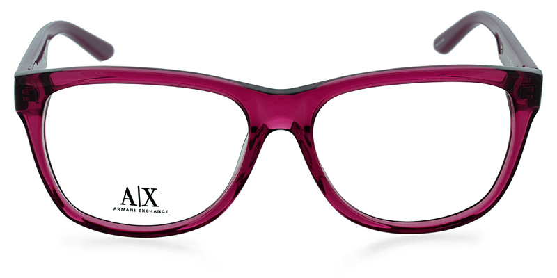 28e2657aa4 Armani Exchange AX237 Clear Red Wine Prescription Eyeglasses From  148