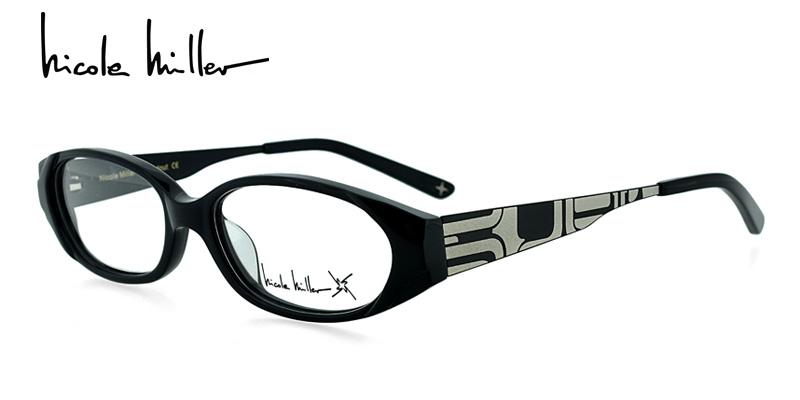 5bb481c5c3 Nicole Miller Standout Black Prescription Eyeglasses