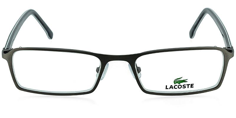 15a4b866129 Lacoste L2132 Satin Gunmetal w White Prescription Eyeglasses From  148