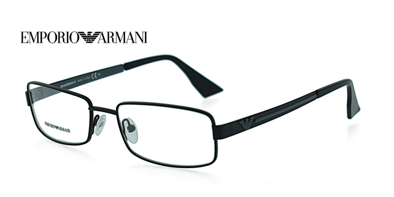 Black Designer Eyeglass Frames : !@ Emporio Armani EA9679 Black Designer Eyeglass Frames ...