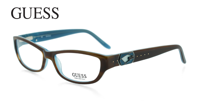 Guess 2243 Brown w/Blue Designer Glasses