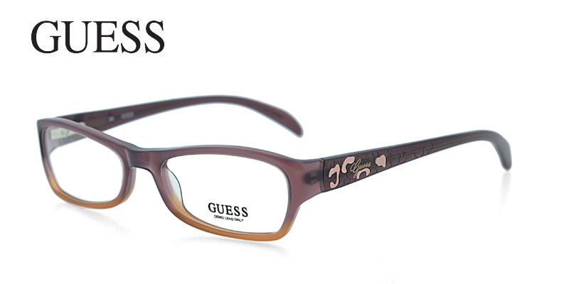 Guess 2212 Purple w/Brown Purple/Eggplant Designer Glasses