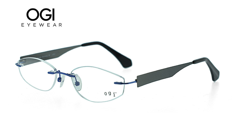 9ca3904d72b2 OGI 612 Blue w Gunmetal Designer Glasses Cheap Today - Hot Glasses ...