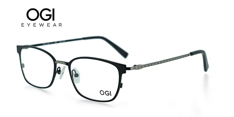 OGI 4026 Black w/Silver Designer Eyeglasses Frames Inexpensive - Sun ...