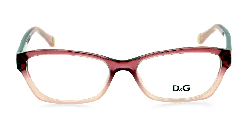 6ef3e1128520 D&G 1216 Clear Plum Prescription Eyeglasses From $188