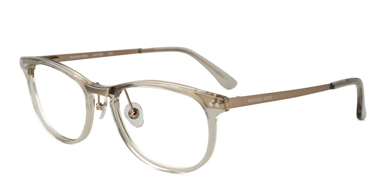 michael kors mk353 taupe w clear prescription eyeglasses