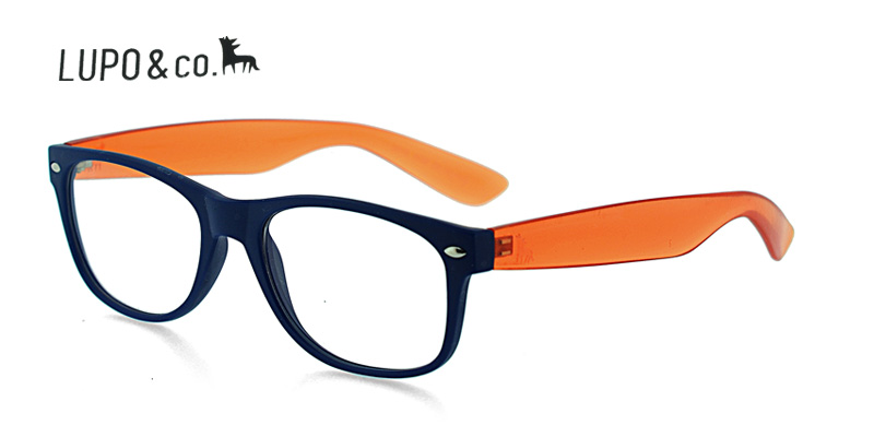 Lupo Fly Blue w/Orange Discount Eyeglass Frames Shipping within USA ...