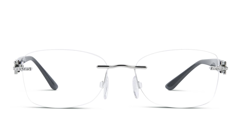 Versace OVE1225B Silver w/Purple Prescription Eyeglasses