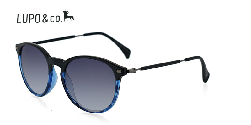 b593bb8caae4 Lupo 1230 Black w Clear Blue Prescription Sunglasses Save Today ...