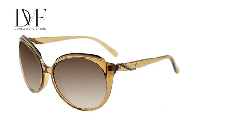 Prescription Sunglasses Diane Von Furstenberg DVF525S Clear Brown