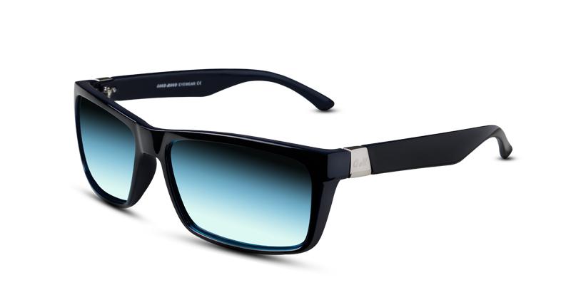 Prescription Sunglasses GM 173 Black w/Blue (non-prescription lenses)
