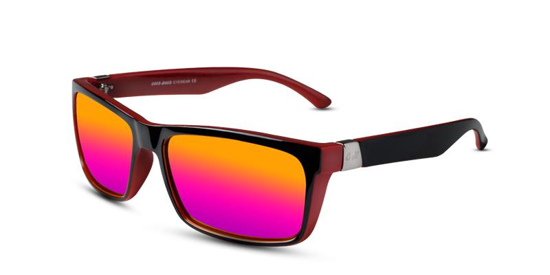 Prescription Sunglasses GM 173 Black w/Red (non-prescription lenses)
