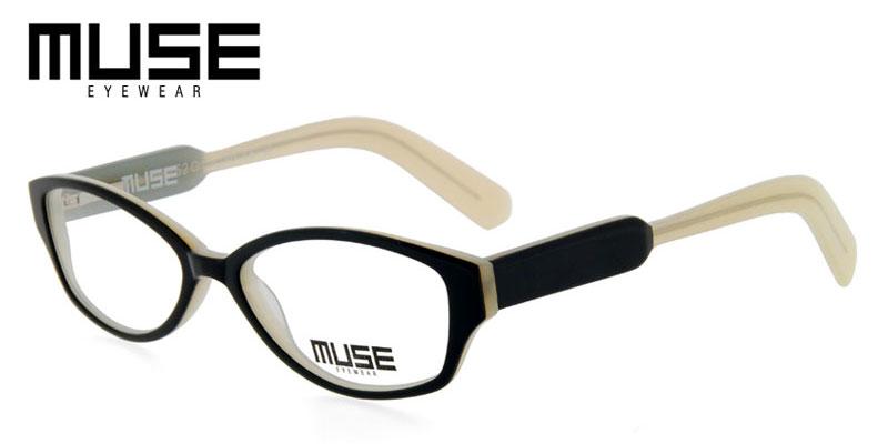 486fb8d388a Muse Emerson Black w White Rx Glasses Buy Cheap Sell - Answer Eyeglasses