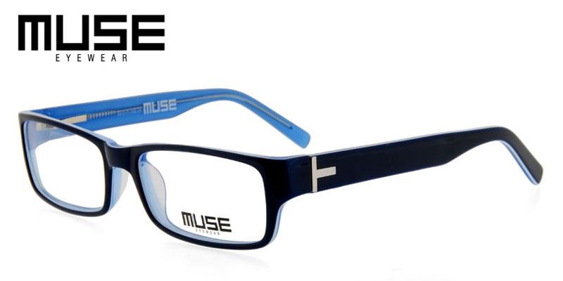 7f899b4273e Muse Wesley Dark Blue Eyeglasses Frames For Sale Cheap - Answer ...