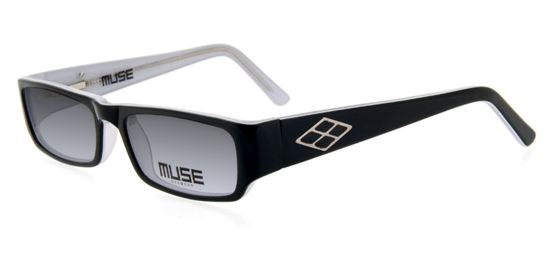 86fe125e0e6 Muse Reed Black w Clear Prescription Sunglasses Affordable Price ...