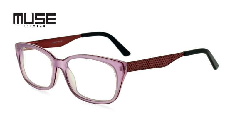 Muse Byron Clear Purple w/Matte Purple Purple/Eggplant Eye Glasses