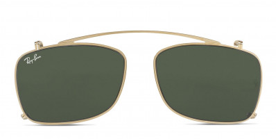 Clip-On For Ray-Ban 5228C Gold/Green