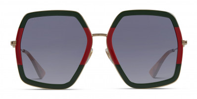 Gucci GG0106S Green/Red w/Gold