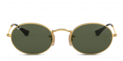 Ray-Ban 3547N Oval Gold/Green