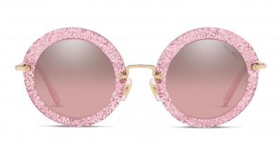 Miu Miu MU 13NS Pink/Glitter/Gold (Non-Rx-able)