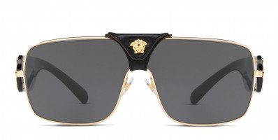 Versace VE2207Q Squared Baroque Gold , Gray