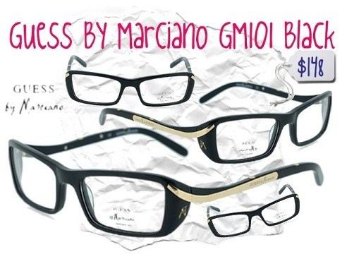 2da9459a499 Looking for a pair of glasses that can go with your hipster-chic style   Guess By Marciano GM101 Black eyeglasses frames are what you ve been  searching for!