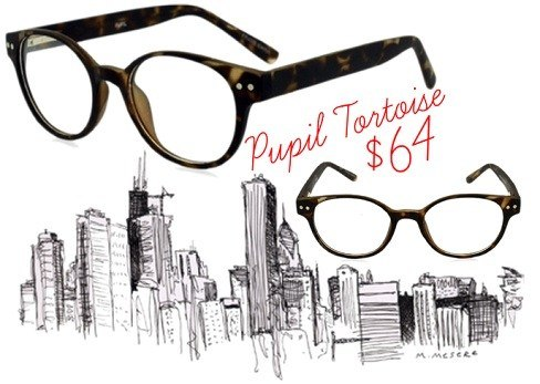 25923cf242 We just love the Pupil Tortoise eyeglasses. These super cool frames have a  unique retro look with rounded lenses rimmed in a matte tortoise frame.