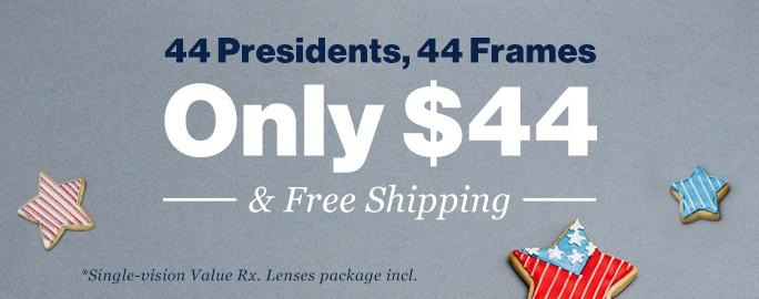44 Presidents, 44 Frames for Only $44