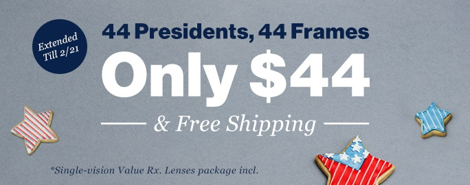 44 Presidents, 44 Frames for Only $44