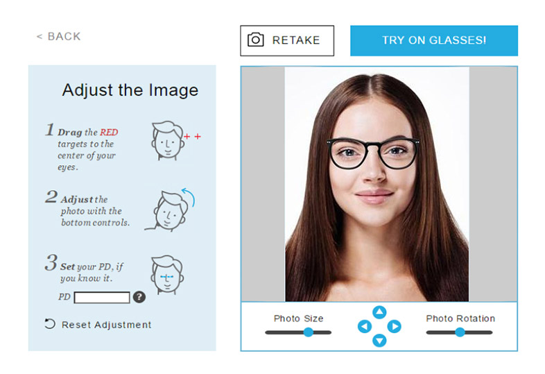 GlassesUSA Try-It! Virtual mirror, try it on!